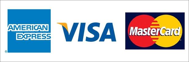 AMEX、VISA、Mastercard
